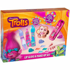 Dreamworks Trolls Lip Gloss and Make Up Childrens Kids Girls Set Xmas Gift Toy