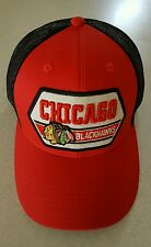 NEW Chicago Blackhawks ADULT Adjustable Trucker Hat ONE SIZE Snap Back  #2011016