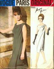 Vintage années 60 vogue paris original 1333 jacques heim evening dress sewing pattern