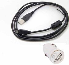 car 1A USB AC/DC Camera Battery Charger cable cord For Olympus Tough TG-320_bx