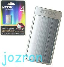 TDK Trans-It Slim-LX 4GB 4G USB Flash Pen Drive Disk Mini Stick Silver
