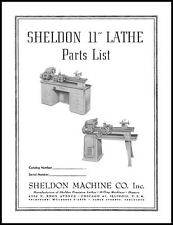 Sheldon 11 Inch Lathe Parts Manual