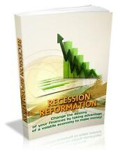 Recession Reformation Ebook On CD $5.95 Plus Resale Rights Free Shipping