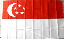 SINGAPORE POLYESTER INTERNATIONAL COUNTRY FLAG 3 X 5 FEET