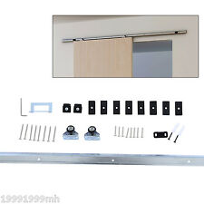 HOMCOM Sliding Barn Wood Door Hardware 6.1FT Track Rail Kit Hang Style Set