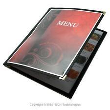 "Tri-Fold Six View Three Panel Booklet Cafe Style Menu Covers 8.5""x11"""