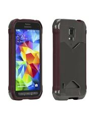 New OEM Case-Mate Samsung Galaxy S5 Active Burgundy Gray Pop ID Credit Card Case