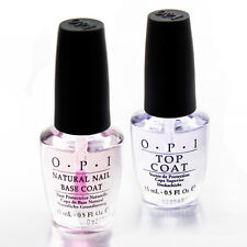 Hot Brand Twin Pack TOP + BASE COAT Natural Nail Polish 15ml  Lacquer Varnish