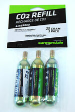Cannondale Airspeed CO2 Threaded Refill Cartridge 25g Pack of 3