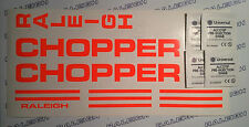 RALEIGH CHOPPER MKI DECAL SET IN DAY-GLO ORANGE