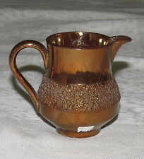 "Vintage Gold-covered 3"" Jug Creamer with rough ""gripping"" band on the side"