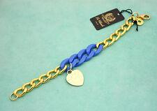 Bracciale a catena Le Chicche by Charlotte De Paris con ciondolo a cuore - blu
