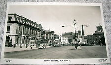 Vintage Town Center, Rochdale, England Real Photo Postcard