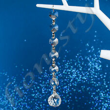 Clear Crystal Glass Chandelier Light Ball Prism Suncatcher Drops Pendant Decor