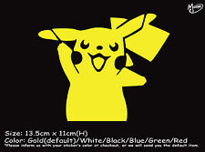 PIKACHU  Reflective Funny Sticker Pokemon Go Car Ute 4x4 Decal Best gift-