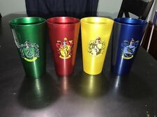 4 Harry Potter Cups Universal Studios Gryffindor Slytherin Hufflepuff Ravenclaw