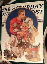original 1933 Leyendecker Saturday Evening Post cover illustration football