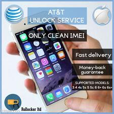 PREMIUM SPEED AT&T FACTORY UNLOCK CODE SERVICE ATT IPHONE 3 4 4S 5 5S 5C 6 6+
