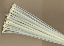 "100 11"" Long 50# Pound NATURAL WHITE Nylon Cable Zip Ties Ty Wraps MADE IN USA"