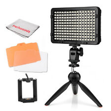 Pergear High Power 176 LED Video Light 3200-5600K On-Camera + Mini Tripod