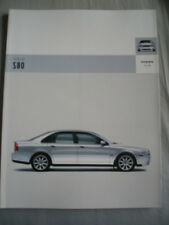 Volvo S80 range brochure c2005 German text