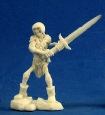 1x SQUELETTE GUARDIAN EPEE 2H - BONES REAPER figurine miniature jdr rpg skeleton