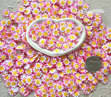 Mini Pink Rim 100pcs 10mm Flower Scrapbook Craft Mulberry Paper card Wedding