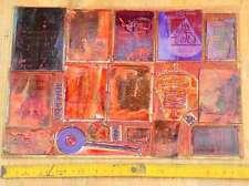 Konvolut Klischees Druckplatten Druckerei Drucker Bleisatz letterpress plates