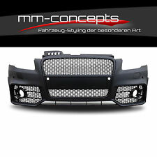 Audi A4 8e B7 Stoßstange RS4 Design Look Front Grill Turbo ABS bumper S Line PDC