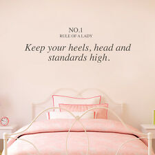 Pretty Girl Love Chanel Cute Bedroom Wall Quote Decal Sticker Vinyl Fashion