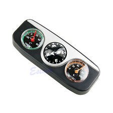 3in1 Guide Ball Navigation Compass Car Boat Vehicles Auto Thermometer Hygrometer