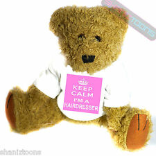 Keep Calm Hairdresser Novelty Gift Teddy Bear