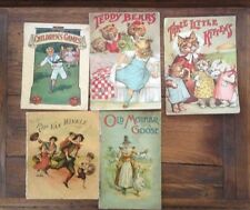 Five Antique Children's Books - Early 1900 - Three Little Kittens and others