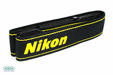"Genuine Nikon 1.5"" Wide Black and Yellow Camera Strap"