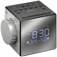 Sony ICF-C1PJ Clock Radio with Time Projector LCD - ICFC1PJ - Silver