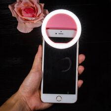 Portable Makeup White Selfie Fill Light LED Flash Ring Lighting For Mobile Phone