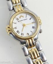 Roven Dino Women's 2004L Two-Tone Stainless Steel Watch White Analog Dial