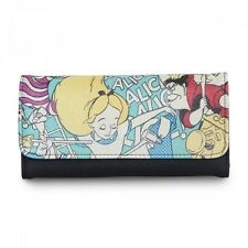 DISNEY ALICE IN WONDERLAND QUEEN OF HEARTS TRIFOLD WALLET BY LOUNGEFLY