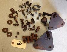 1927 WILLY'S KNIGHT MODEL 70 MISC ENGINE & FRAME BODY BUMPER BOLTS & WIRE CLIPS