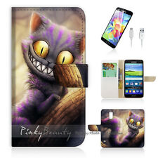 Samsung Galaxy S5 Flip Phone Case Cover PB10327 Cheshire Cat