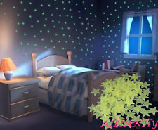 100PCS Glowing at Night Ceiling Wall Little Stars Decal Stickers Bedroom Decor