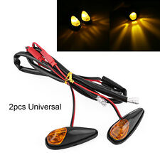 2Pcs LED Motorcycle Flush Mount Turn Signal Light Motorbike Indicator Lamp Amber