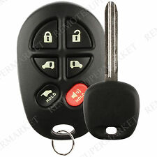 Replacement for Toyota 2004-2010 Sienna Remote Car 6b Van Key Fob Set