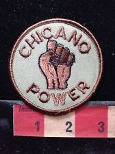 Old School CHICANO POWER Fist Protest Patch 1980s / 1990s Era 72Y7