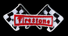 Firestone Patch Automotive Checkered Flags Drag Race Tires Hot Rod