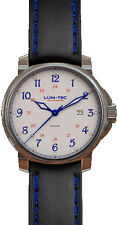 Lum-Tec Watch - RR1 - 43mm Automatic Mens Black & Blue w/ 2 Straps