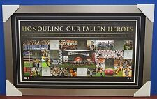 Collingwood Anzac Day Rivarly Limited Edition AFL Print Deluxe Silver Frame Swan