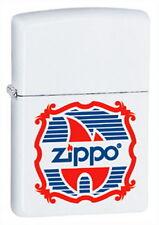 ZIPPO Feuerzeug VINTAGE LOGO White matte Zippo Flamme Zippo Logo NEU OVP