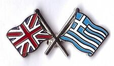 united kingdom greece flag  lapel badge union jack  greek friendship