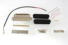 NEW Bridge Humbucker PICKUP KIT for Gibson & Fender Guitars Guitar Wiring Black